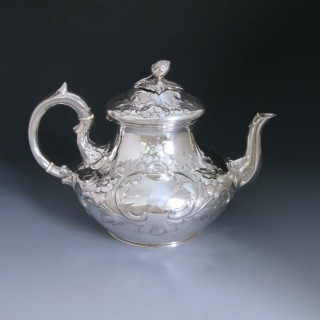 Antique Victorian Sterling Silver Teapot made in 1855 by William Smily of London