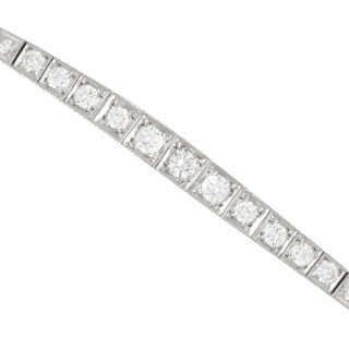 2.02ct Diamond and 18ct White Gold Bracelet - Antique Circa 1930