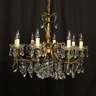 Italian Gilded 8 Light Antique Chandelier