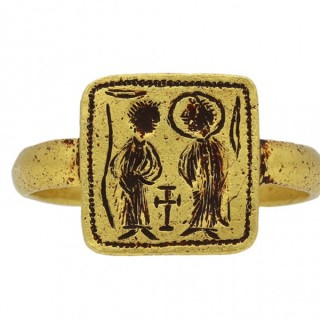 Byzantine betrothal ring, circa 7th-8th century AD.