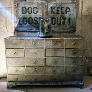 An Early 19thC Regency Period Painted Pine Bank of Eighteen Drawers c.1820-30