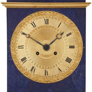 Charles X lapis and gilt bronze mantel clock