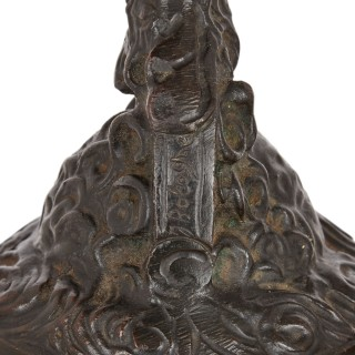 Pair of patinated bronze figures after Giambologna