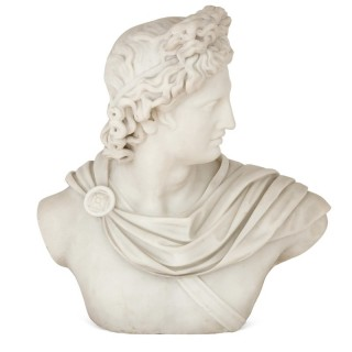 Italian marble sculpture of Apollo