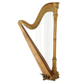 Antique Gothic Revival harp by Erard