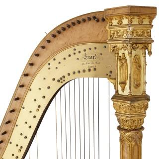 Antique Gothic Revival harp by Erard