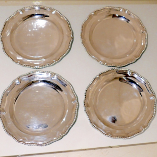 Mid 18th Century Antique George II Sterling Silver Set Four Second Course Dishes London 1754 John Jacob