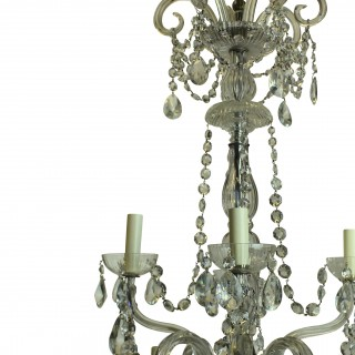 A FRENCH CUT GLASS CHANDELIER