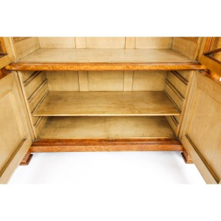 Antique French Charles X Burr Maple and Ormolu Bookcase Circa 1820 19th C