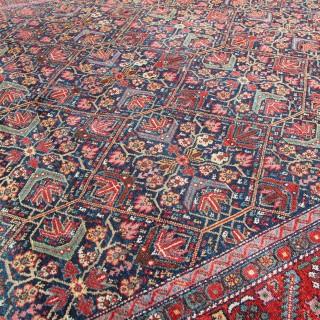 Antique Malayer corridor carpet
