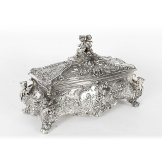 Antique German WMF Silver Plated Casket / Jewellery Box C1890
