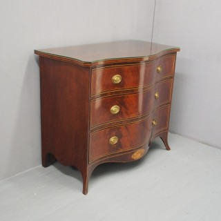 George III Inlaid Mahogany Serpentine Chest of Drawers
