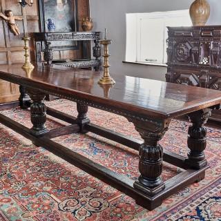 Elizabeth I oak long table