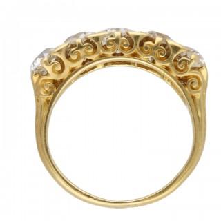 Victorian five stone diamond ring, circa 1890.
