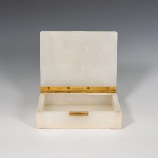 White Onyx Stone Box