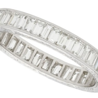 3.80ct Diamond and Platinum Full Eternity Ring - Antique Circa 1930