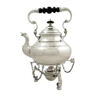 Antique Edwardian Sterling Silver Spirit Kettle 1909