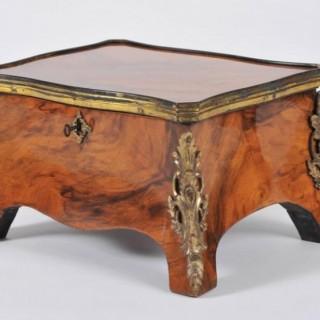 Mid-19th Century Walnut and Ormolu Mounted Box