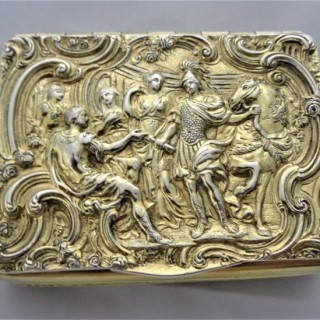 Super cast topped George III silver gilt box London 1808 William Ellerby
