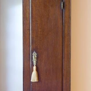 George II Oak Cased Single Handed Longcase clock by John Baker, Sevenoaks