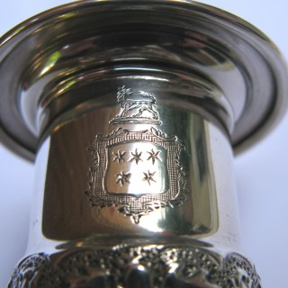 Two Antique Victorian Sterling Silver Candlesticks made in 1897 & 1898 by Horace Woodward of London