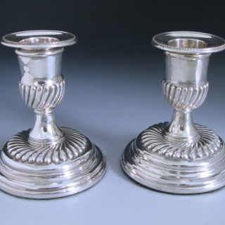 Pair of Antique Victorian Sterling Silver Candlesticks made in 1892 by John Newton Mappin of London