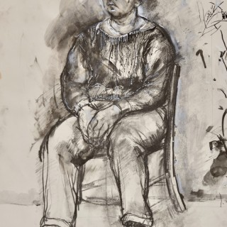 Seated Man in a Pullover