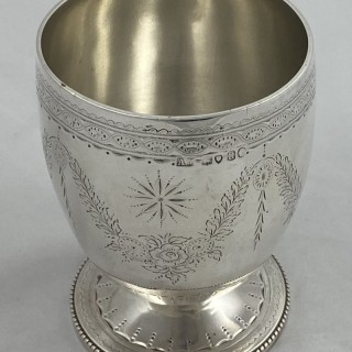 Antique Sterling Silver Victorian Goblet / Beaker 1868 Alexander Macrae of London