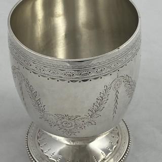 Antique Sterling Silver Victorian Goblet / Beaker 1868 Alexander Macrae of London