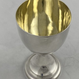 Antique Sterling Silver George III Goblet of plain classical shape 1808 Thomas Wallis London.