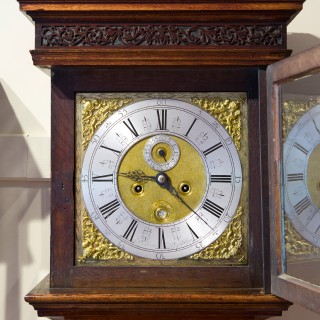 Queen Anne Oak Cased Longcase Clock by Joseph Davies, Ratcliffe Highway