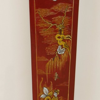Art Deco Westminster Chiming Grandmother Clock With Chinoiserie Decoration