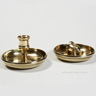 Cast Brass Travel Candlesticks