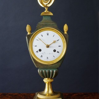 French Empire Bronze and Ormolu Mantel Clock