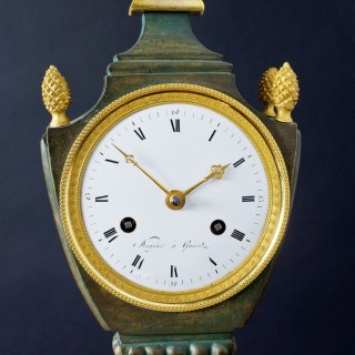 French Empire Bronze and Ormolu Mantel Clock