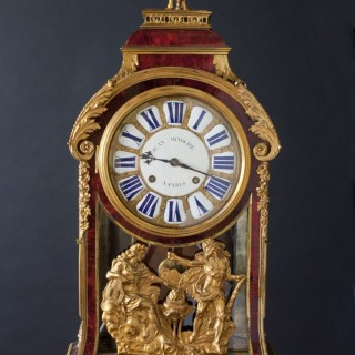Louis XIV Tortoiseshell Boulle Bracket Clock by Jean Minoche a Paris