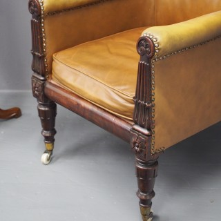 George IV Leather Library Chair