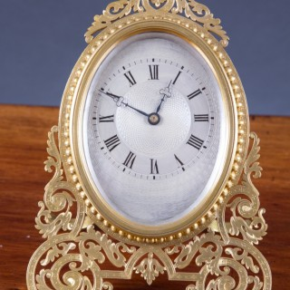 Early Victorian Brass Cased Strut Clock