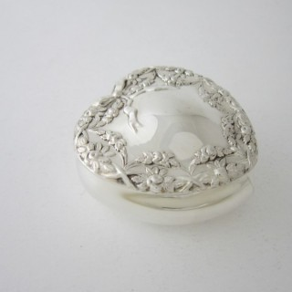 Antique Edwardian Sterling silver trinket box