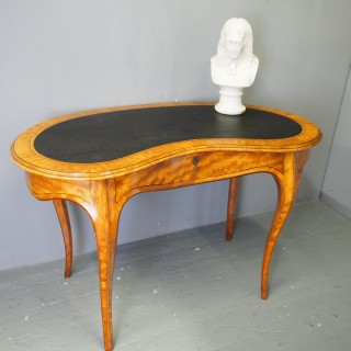 Victorian Inlaid Satinwood Writing Table
