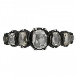 Georgian seven stone diamond ring, circa 1770.