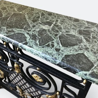 1920s Marble and Gilt Metal Console / Radiator Cover