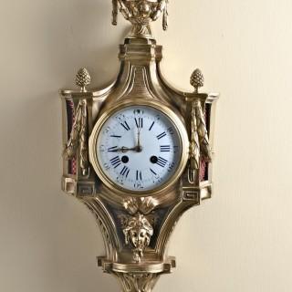French Ormolu Cartel Wall Clock by Vassy, Jeure, Paris