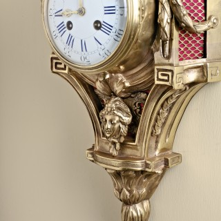 French Ormolu Cartel Wall Clock
