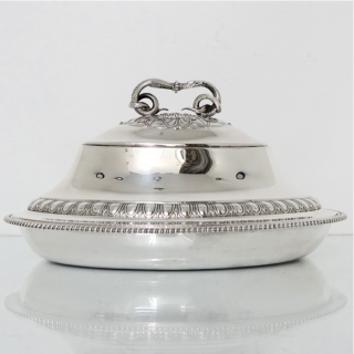 Antique Pair of George III Britannia Silver Oval Entree Dishes London 1796/7 Robert Sharp