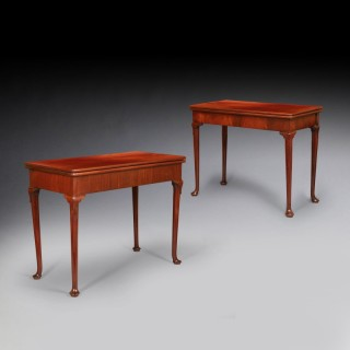 A Pair of 18th Century Irish Mahogany Tea Tables