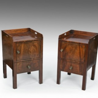 A Matched Pair of George III Night Cabinets