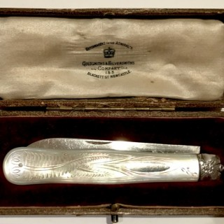 Silver and Mother of Pearl Fruit Knife