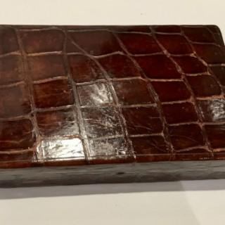 Crocodile Jewellery Case