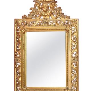 Mid 19th Century Italian Giltwood & Gesso Wall Mirror